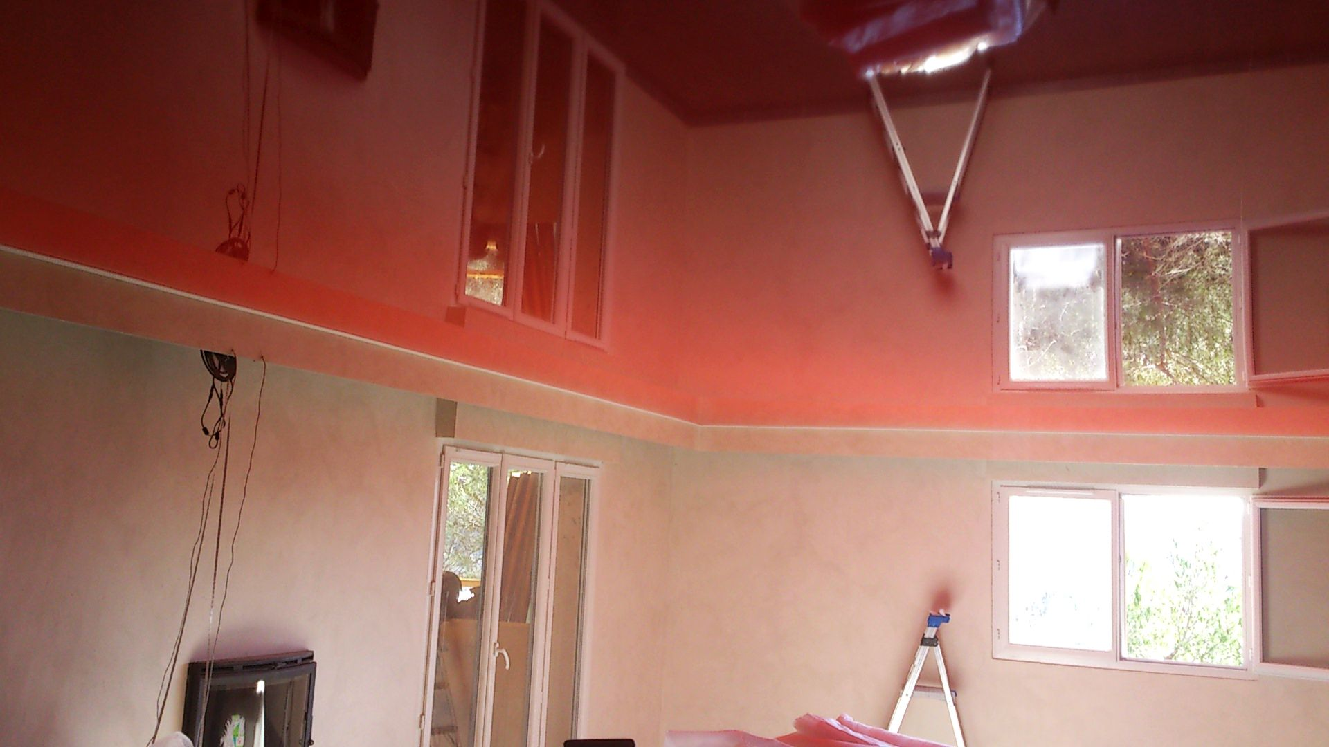 red reflective stretch ceiling Pompano Beach Florida